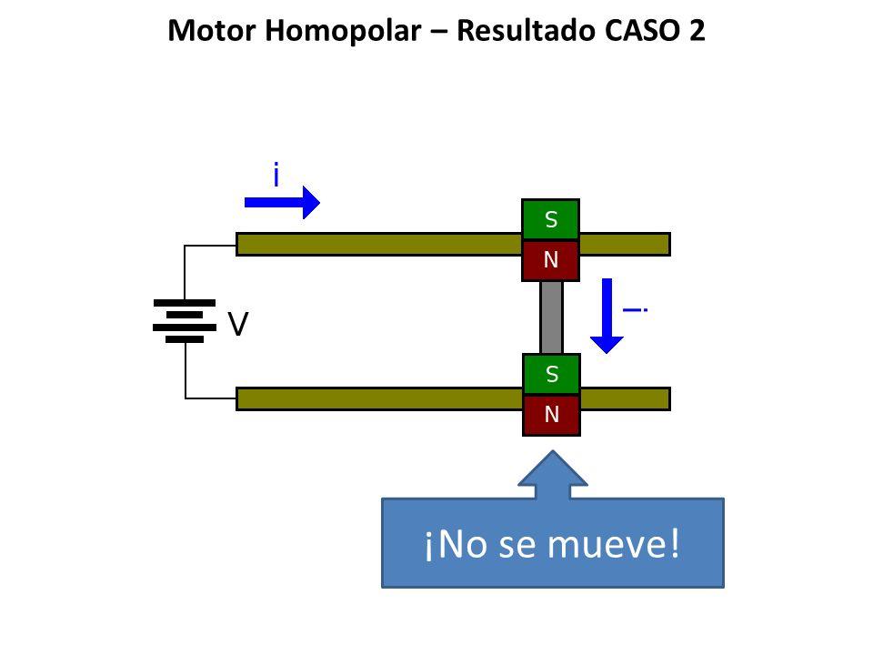 Motor Homopolar – Resultado CASO 2 ¡No se mueve!