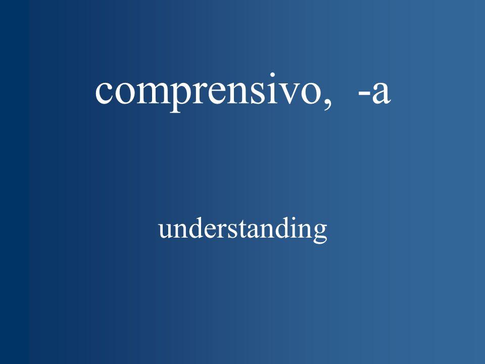 comprensivo, -a understanding