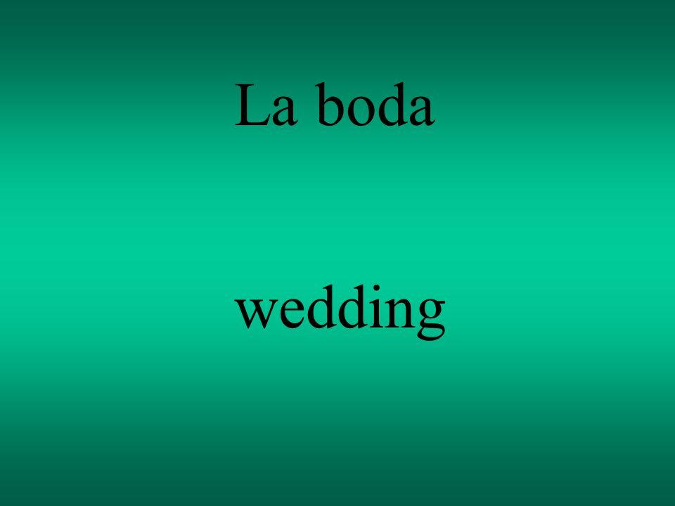 La boda wedding