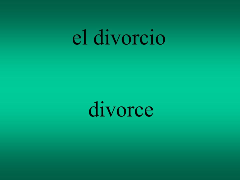 el divorcio divorce