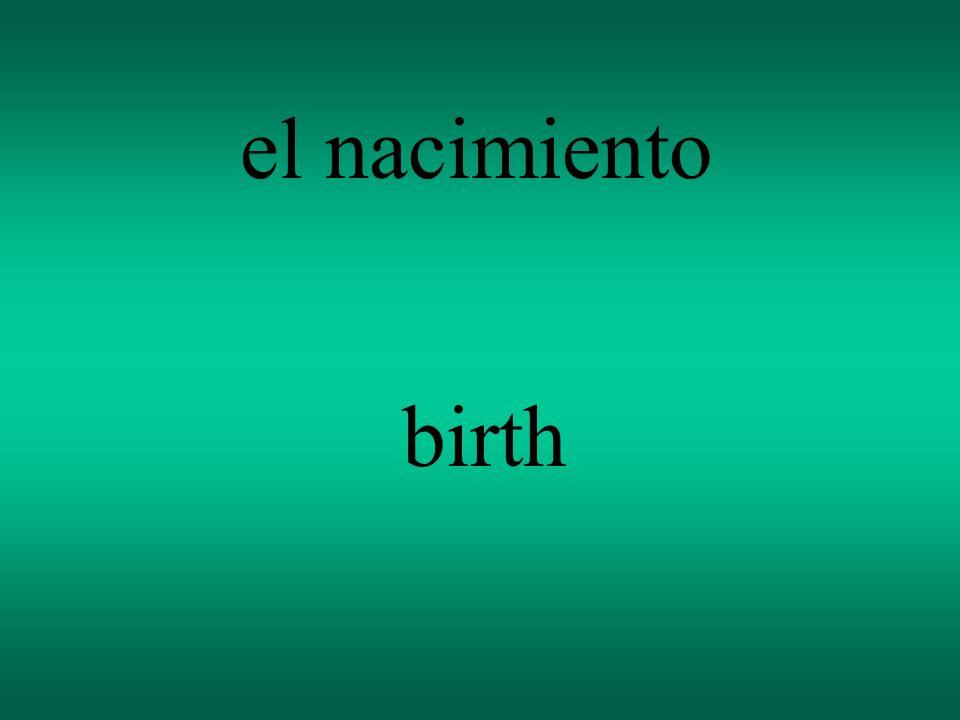 el nacimiento birth