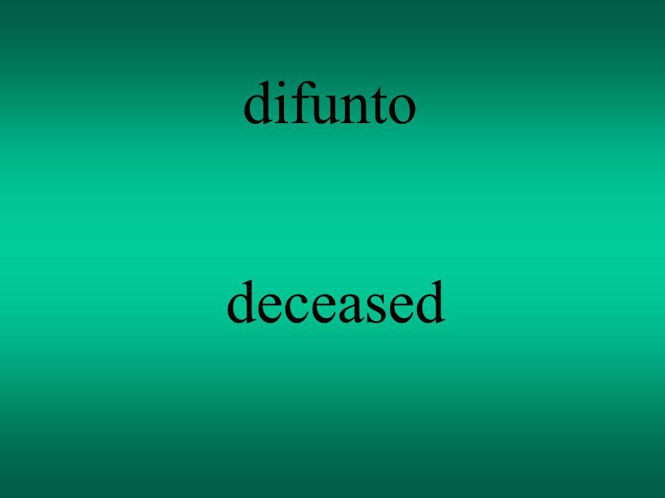 difunto deceased