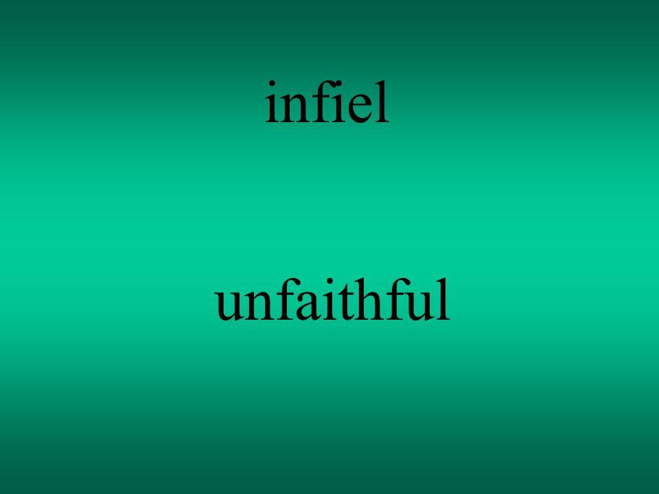 infiel unfaithful