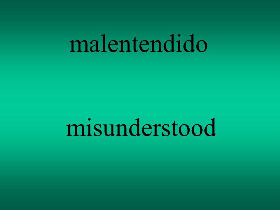 malentendido misunderstood
