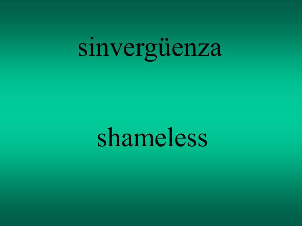 sinvergüenza shameless