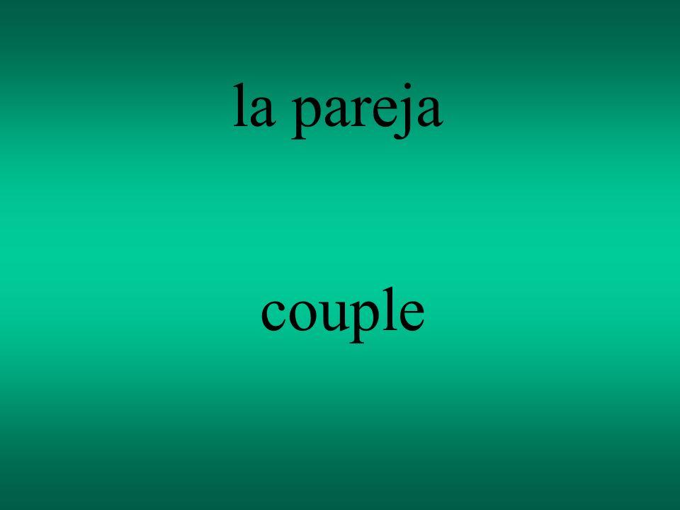 la pareja couple