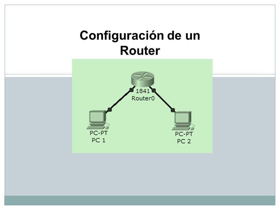 Configuración de un Router
