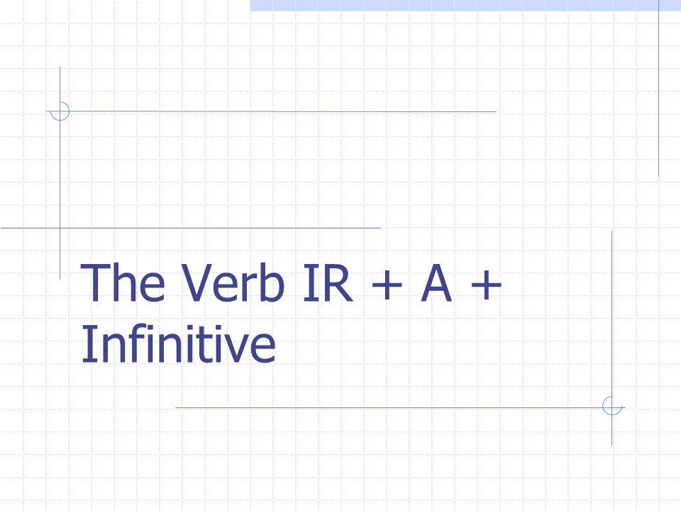 The Verb IR + A + Infinitive