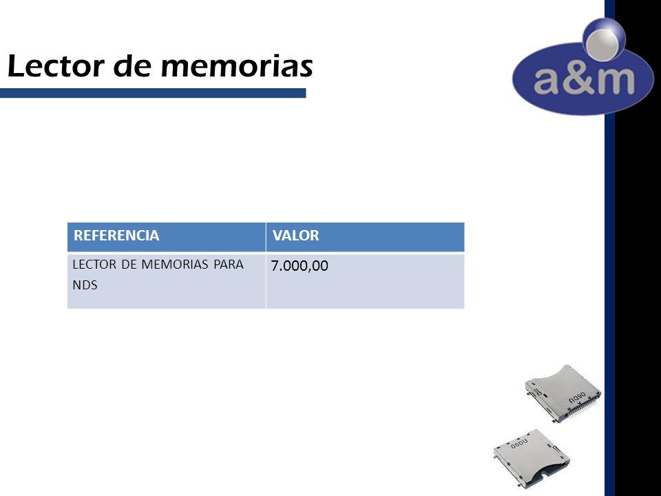 REFERENCIAVALOR LECTOR DE MEMORIAS PARA NDS 7.000,00 Lector de memorias