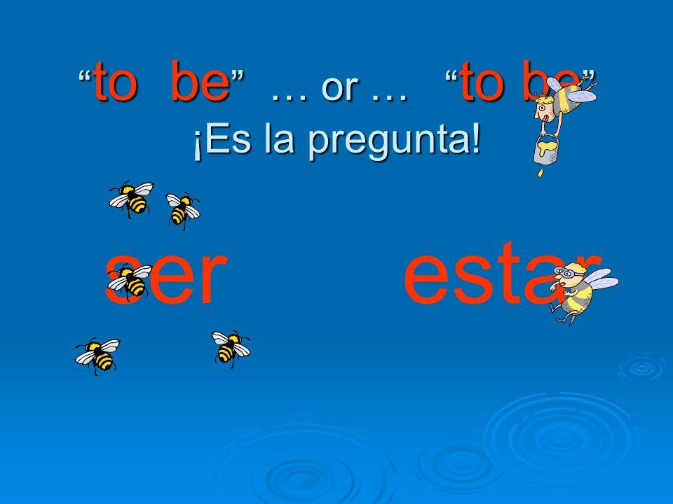 to be … or … to be ¡Es la pregunta! to be … or … to be ¡Es la pregunta! ser estar