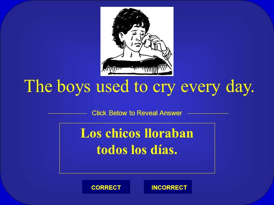 Los chicos lloraban todos los días.