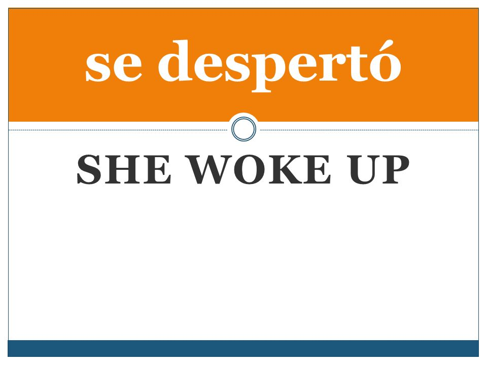 SHE WOKE UP se despertó