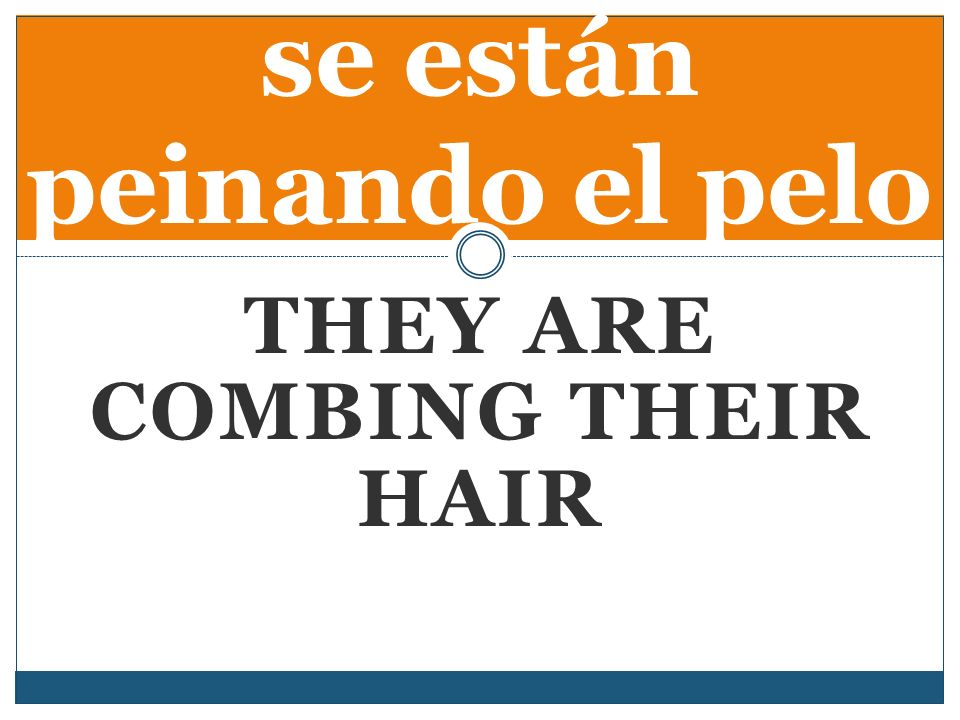 THEY ARE COMBING THEIR HAIR se están peinando el pelo