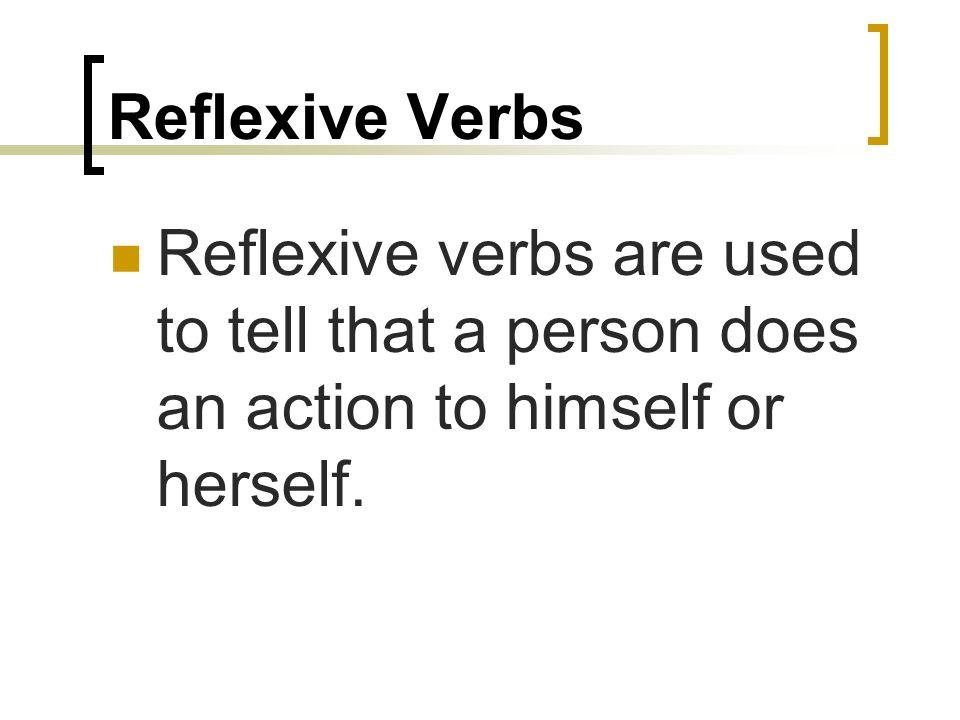 Español 7 Reflexive Verbs