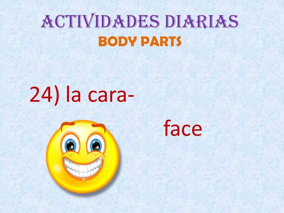 Actividades Diarias BODY PARTS 24) la cara- face