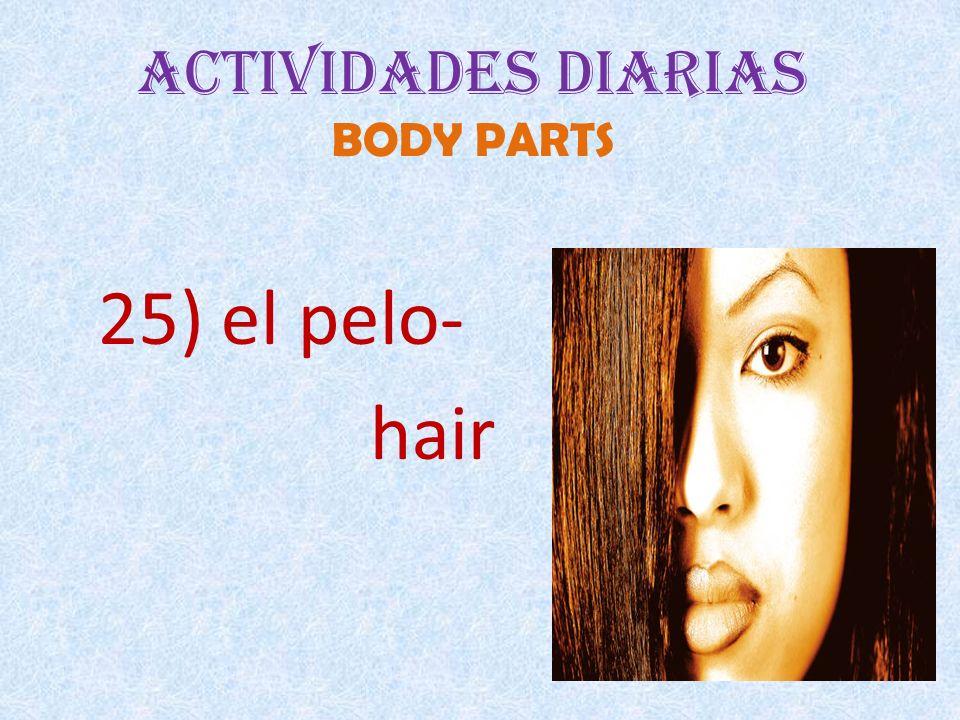 Actividades Diarias BODY PARTS 25) el pelo- hair
