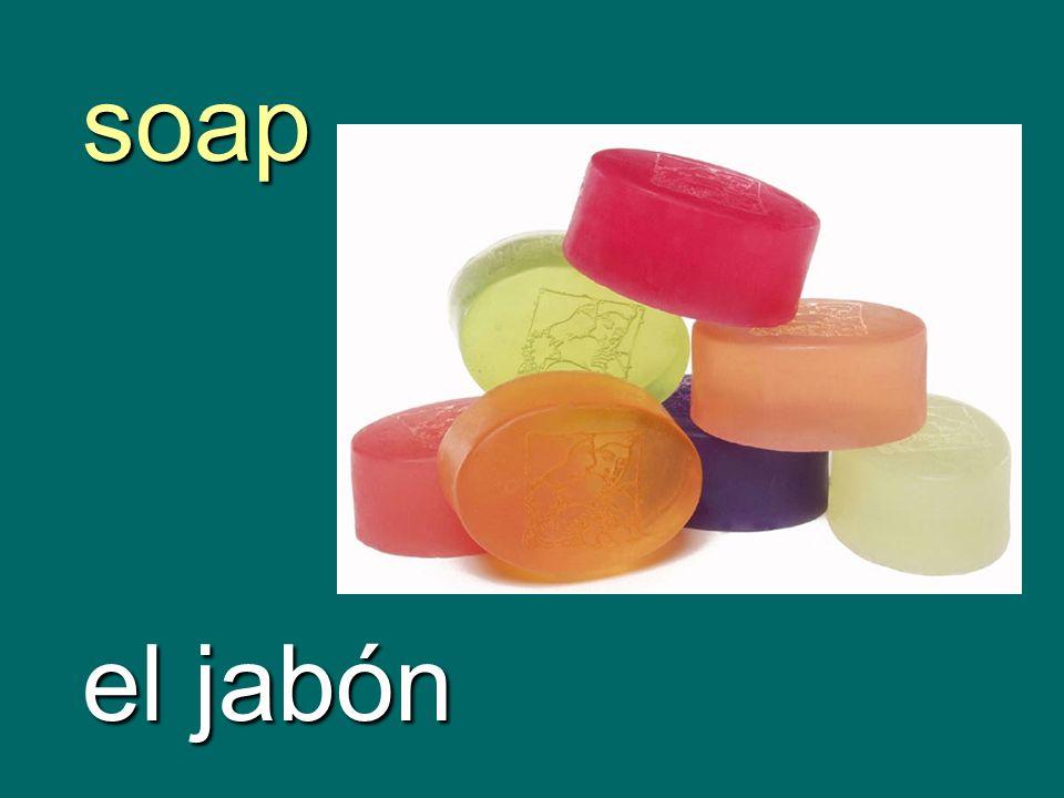 soap el jabón