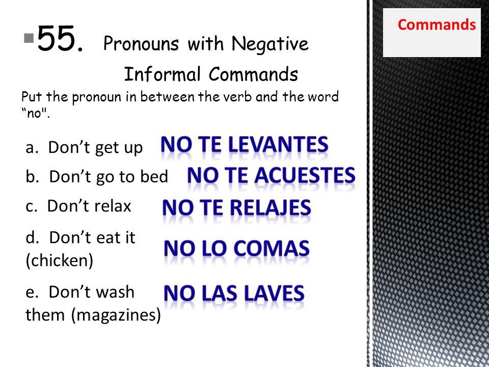 Commands 55.