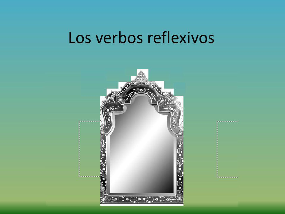 IF you have 2 verbs, you have 2 ways to say a sentence using a reflexive pronoun.