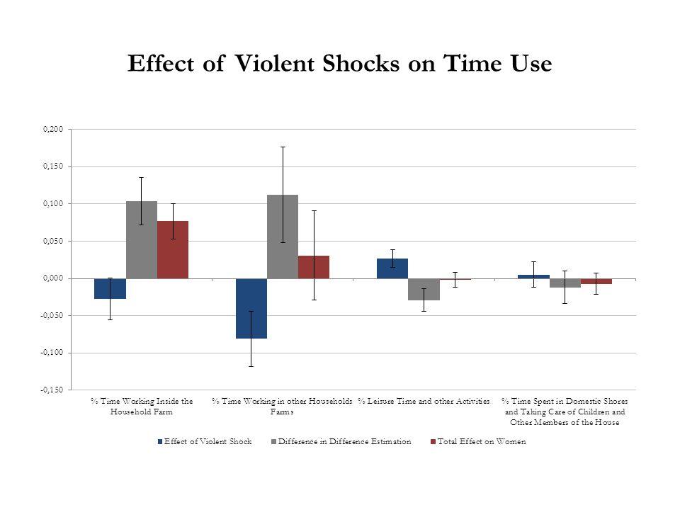 Effect of Violent Shocks on Time Use