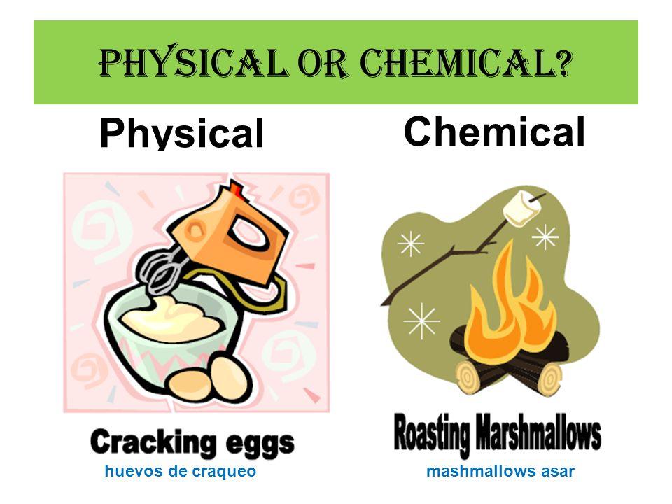Physical Chemical huevos de craqueomashmallows asar