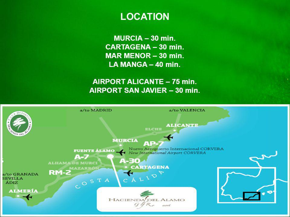 Location LOCATION MURCIA – 30 min.CARTAGENA – 30 min.