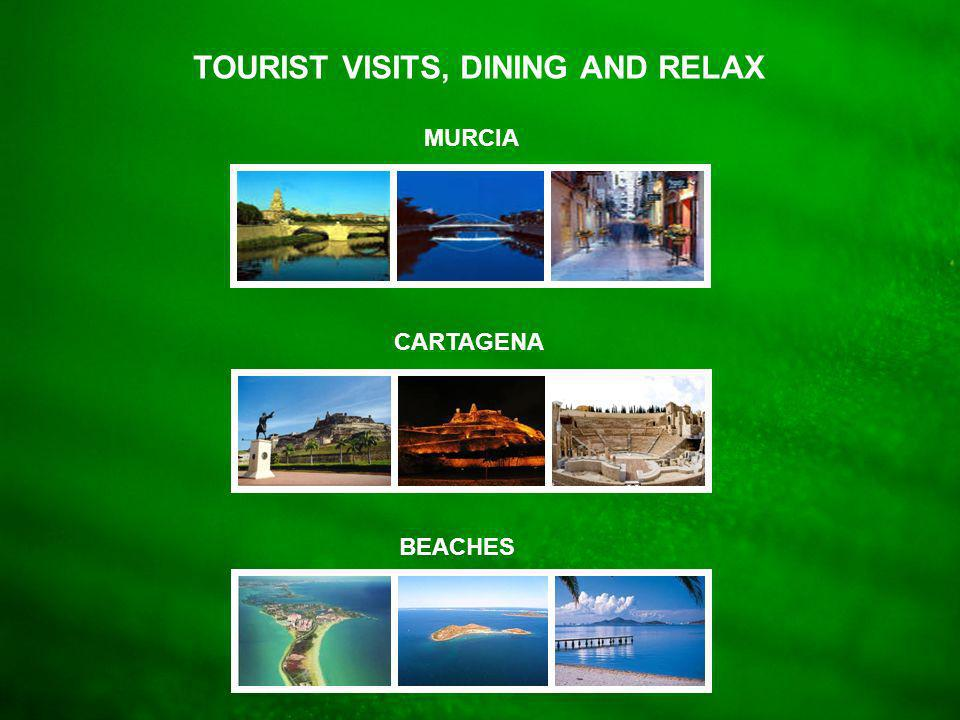 Tourist Visits MURCIA CARTAGENA BEACHES TOURIST VISITS, DINING AND RELAX