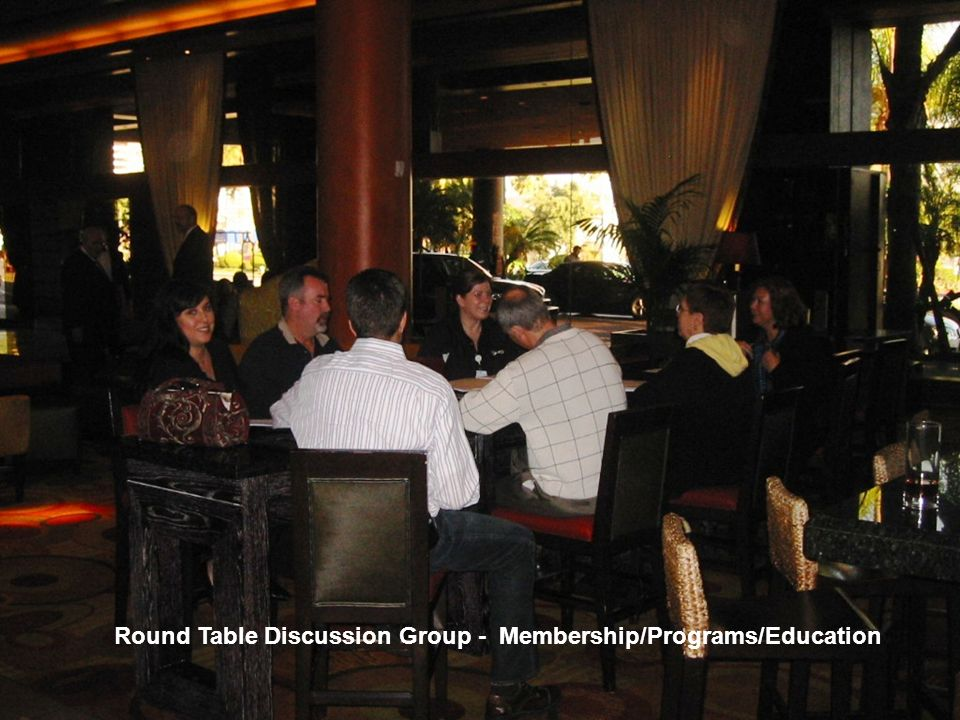 Round Table Discussion Group - Membership/Programs/Education