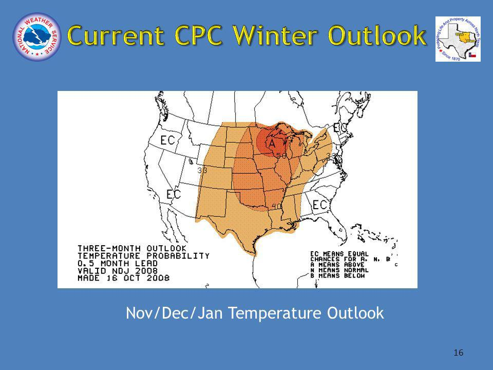 Nov/Dec/Jan Temperature Outlook 16