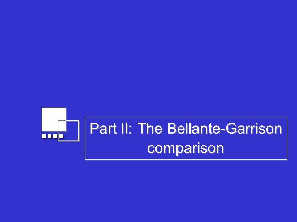 Part II: The Bellante-Garrison comparison