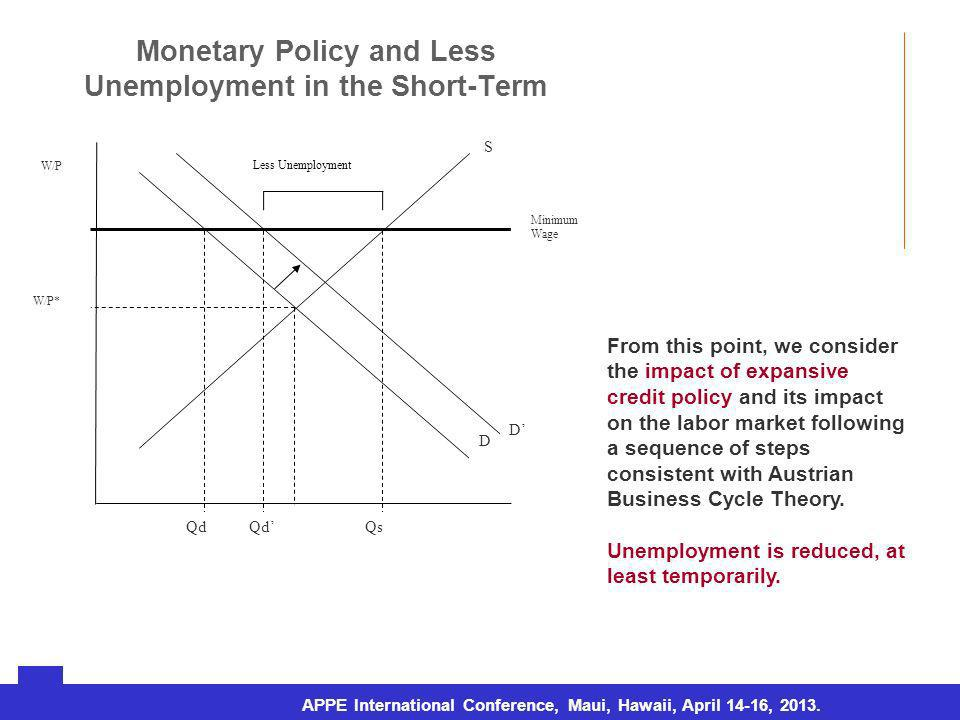 URJC – Doctorado en Economía Aplicada (Tesis doctoral) Monetary Policy and Less Unemployment in the Short-Term Rosario, sábado 7 de agosto de 2010 APPE International Conference, Maui, Hawaii, April 14-16, 2013.