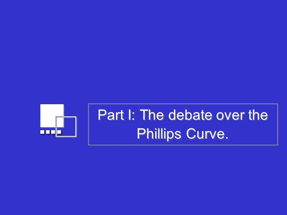 Part I: The debate over the Phillips Curve.