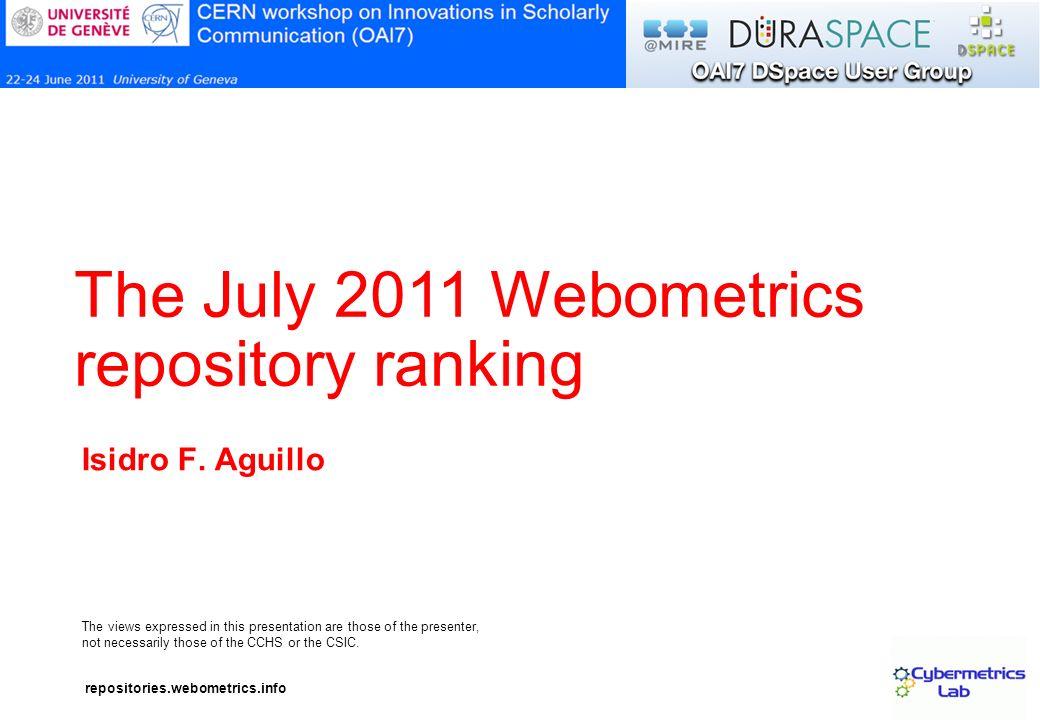 repositories.webometrics.info 12 Complex URLs http://doras.dcu.ie/15962/ http://doras.dcu.ie/15962/4/OPTICS-S-08-01522.pdf