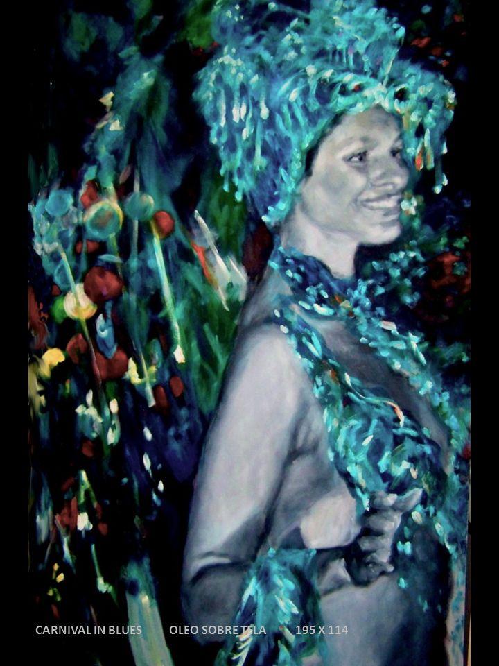 CARNIVAL IN BLUES OLEO SOBRE TELA 195 X 114