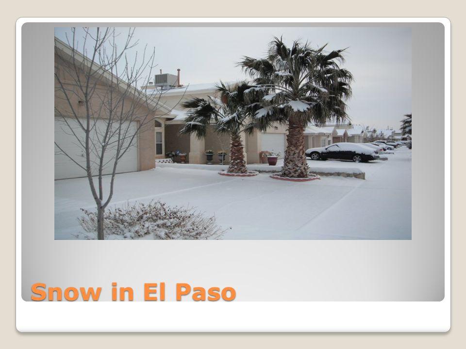 Snow in El Paso