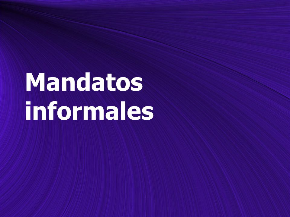 Informal Commands To give a command in Spanish, you must first decide whether you wish to use an informal (tú) or formal (usted) command.