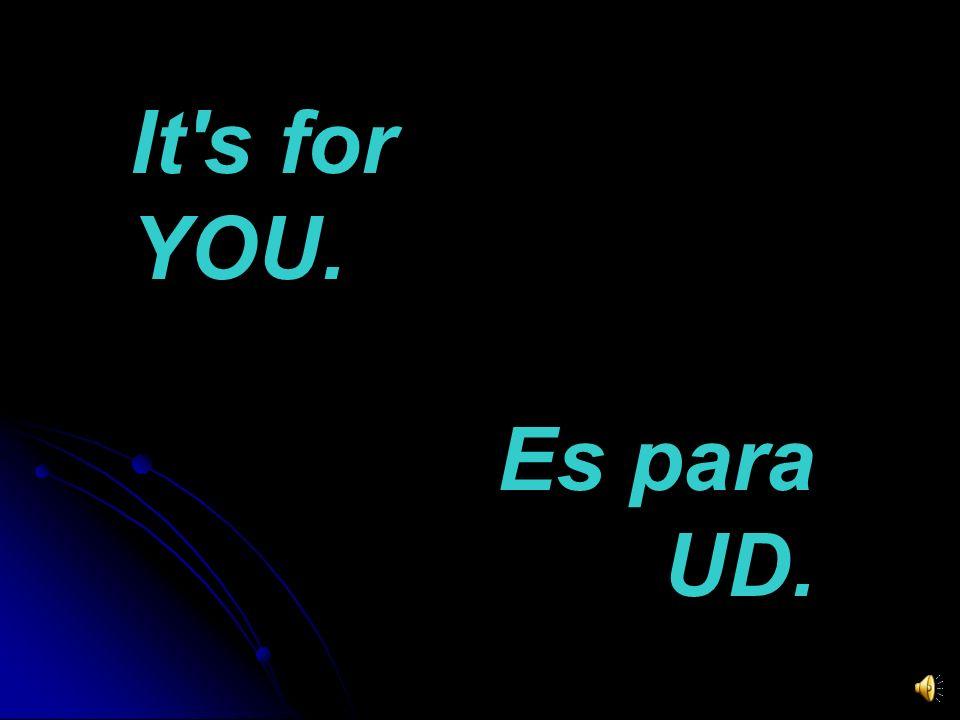 It is marketing. = Es mercadeo. (marketing = mercadotecnia) It's for publicists. = Es para publicistas.