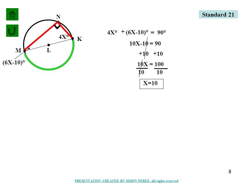 19 C B A D E F H I G 60° 5.DB m = 120° Standard 21 PRESENTATION CREATED BY SIMON PEREZ.