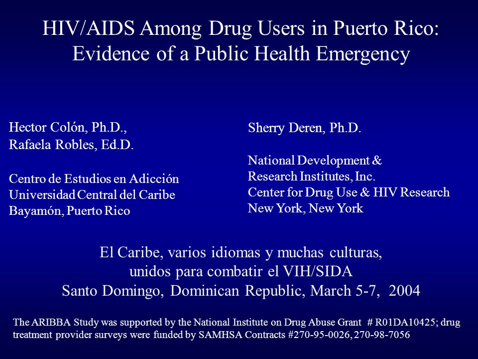 Drug Users in Puerto Rico Have Less Access to HIV Prevention and Other Health Services
