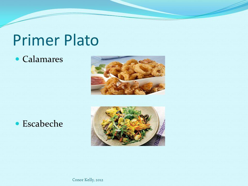 Primer Plato Calamares Escabeche Conor Kelly, 2012