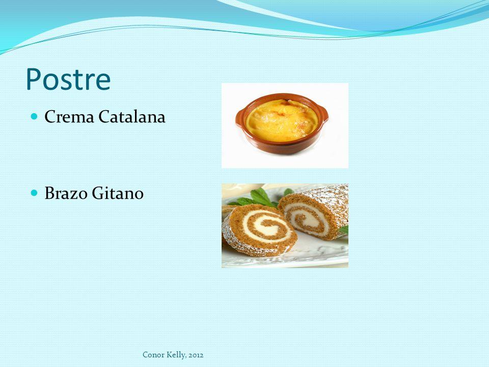 Postre Crema Catalana Brazo Gitano Conor Kelly, 2012