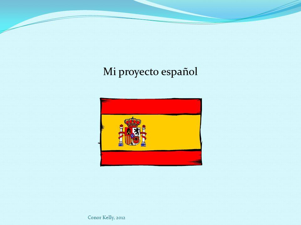 Mi proyecto español Conor Kelly, 2012