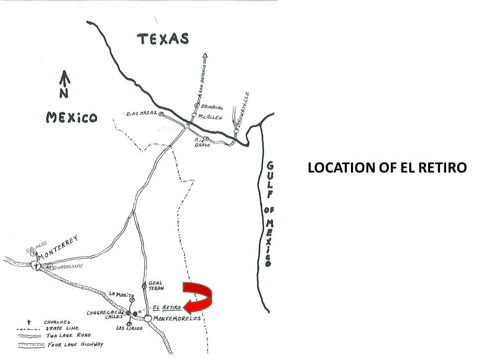 LOCATION OF EL RETIRO