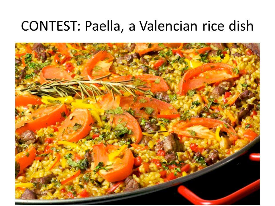 CONTEST: Paella, a Valencian rice dish