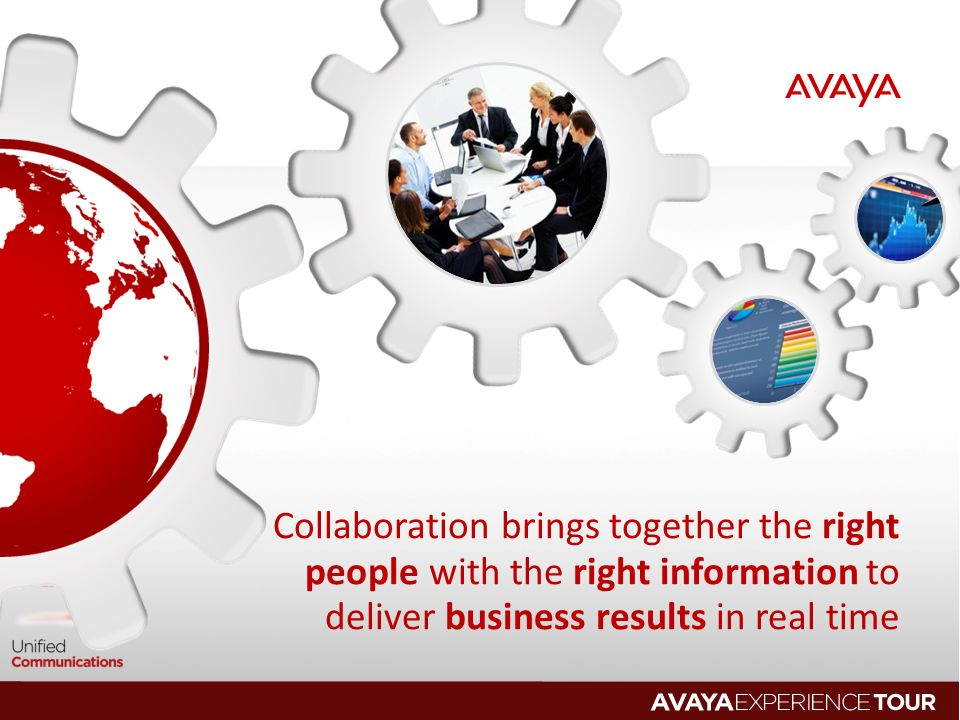 Collaboration brings together the right people with the right information to deliver business results in real time