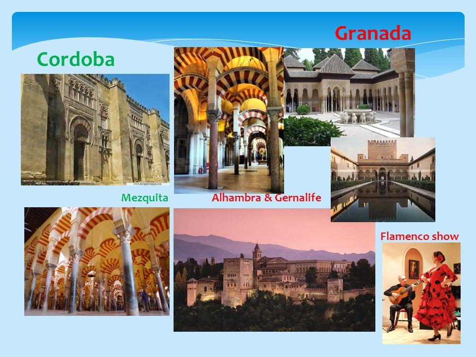 Cordoba Mezquita Granada Alhambra & Gernalife Flamenco show