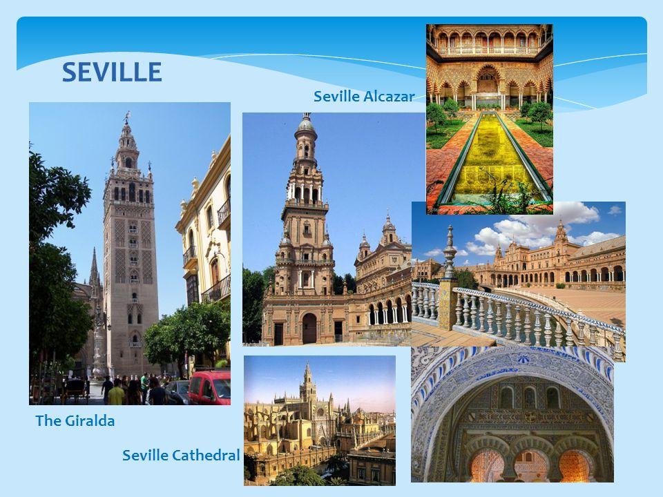 SEVILLE The Giralda Seville Cathedral Seville Alcazar