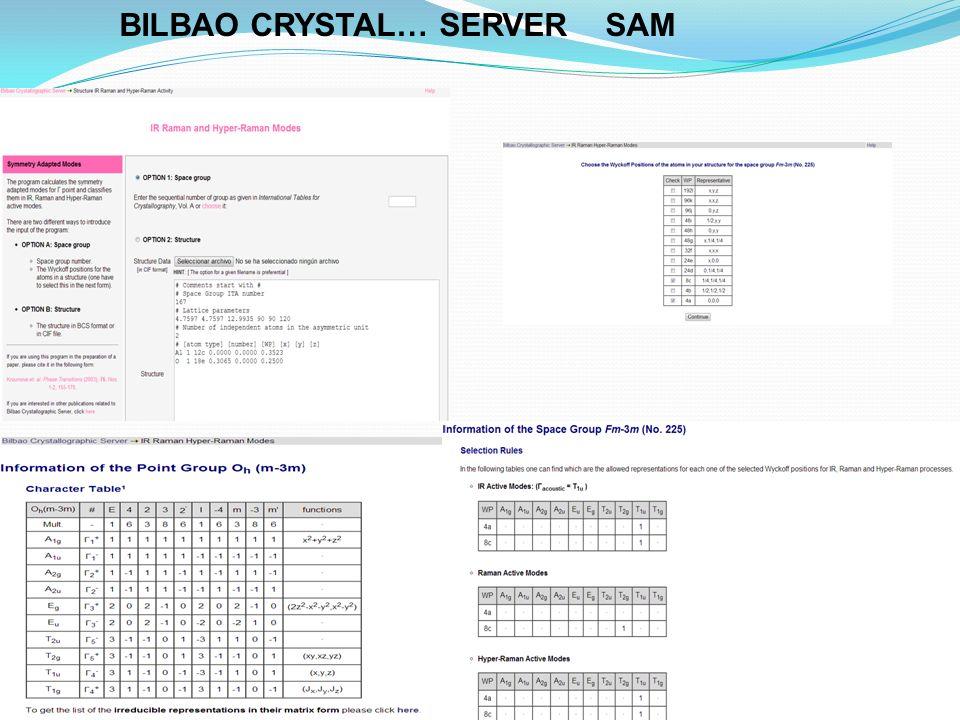 BILBAO CRYSTAL… SERVER SAM