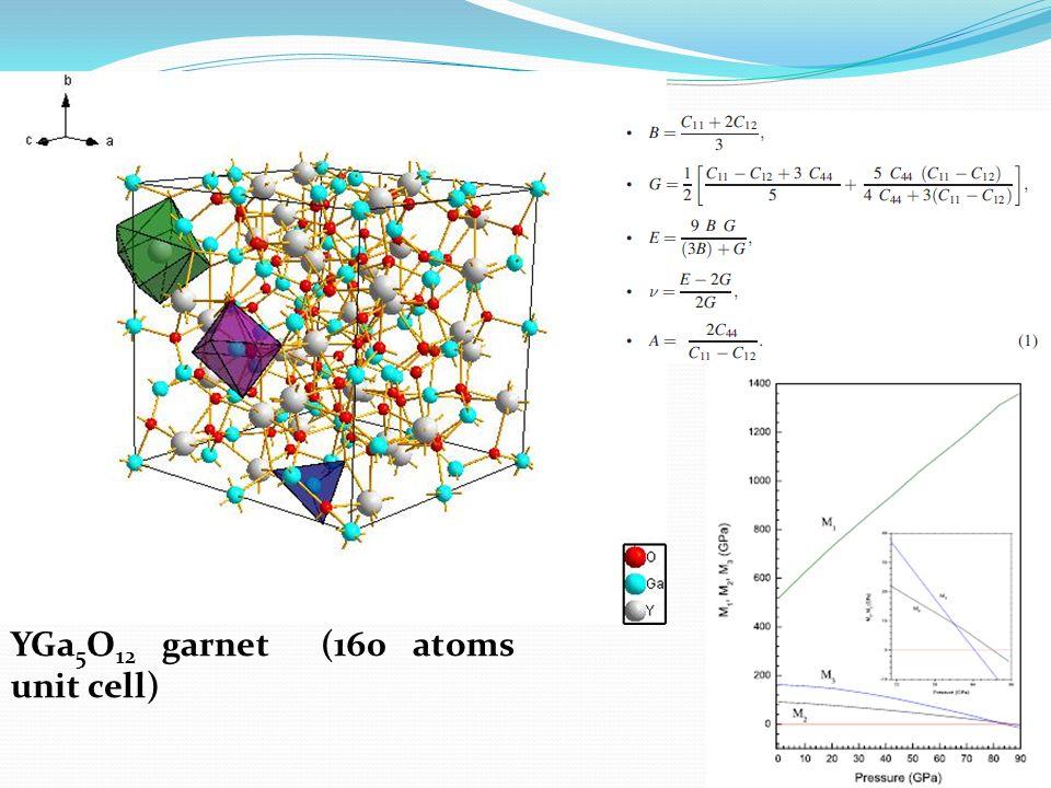 YGa 5 O 12 garnet (160 atoms unit cell)