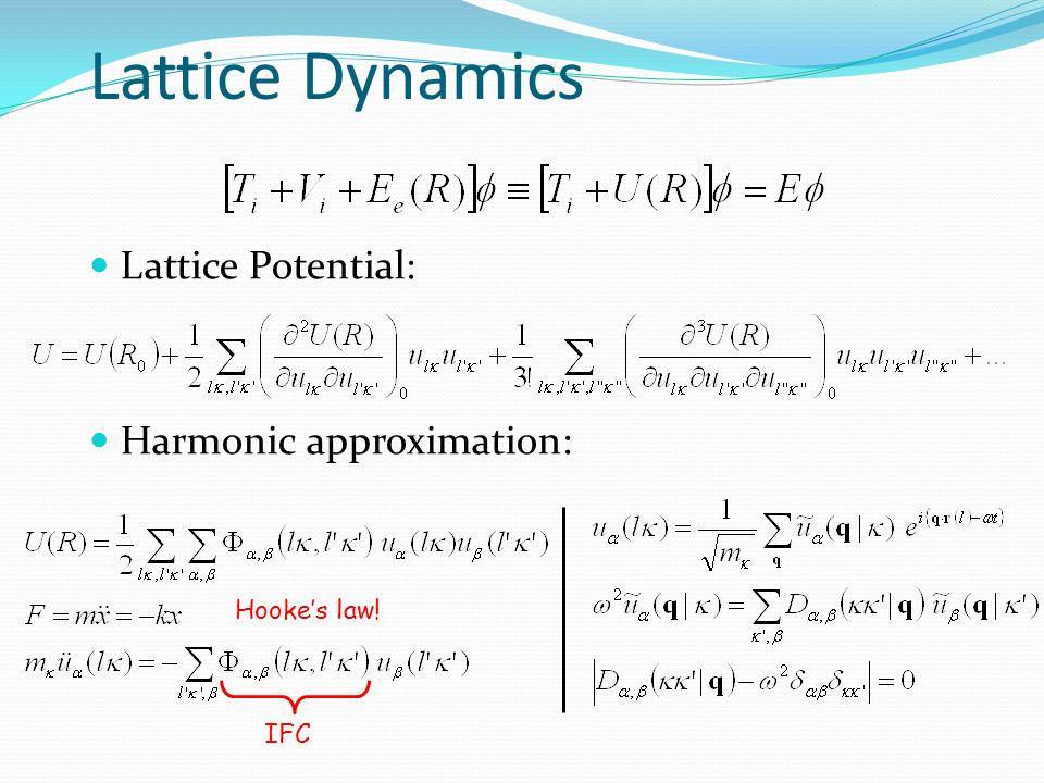 30 LO-TO splitting High - temperature : Fluorite structure (, one formula unit per cell ) Supercell calculation + interpolation .